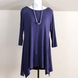 Soft Surroundings Modal Knit Dress Handkerchief He